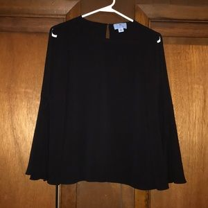 Long bell sleeve blouse